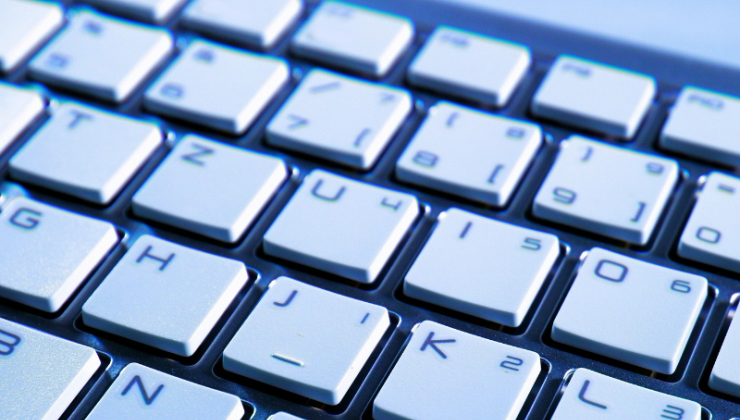 A detail image of a computer keyboard